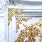 Металлический ажурный уголок,  золото, плоский, 4 см, UC002821