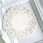 Бумажная Ажурная Салфетка, Диаметр 115 мм., белые, 10 шт., UC002822
