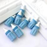 Пластиковая Детская бутылочка Boy, 9х23 мм., обратная сторона на пенном скотче, цена за 1 шт., UC002861