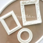 Рамочки белые пластиковые, 40, 50, 64 мм., цена за 3 шт., UC002863
