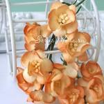 Цветы Вишни желто-оранжевые с тычинками, 25 мм., 5 шт., UC002866