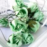 Роза бутон, цвет:мятный, размер:20 мм, цена за 1 шт., UC002881
