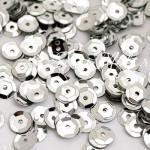Пайетки, цвет серебро, 6 мм., 4-5 гр. UC002902