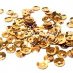 Пайетки большие, цвет золото, 8 мм., 4-5 гр. UC002903