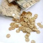 Пайетки глиттер, цвет золото, 6 мм., 3-4 гр. UC002904