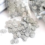 Пайетки глиттер, цвет серебро, 6 мм., 3-4 гр. UC002906