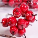 Яблоки пластиковые красные 18 мм., цена за 1 шт., UC002907