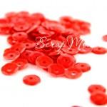 Пайетки, цвет красный, 6 мм., 4-5 гр. UC002913