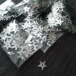 Пайетки Звёздочки серебро, 13 мм., 3-4 гр.., UC002930