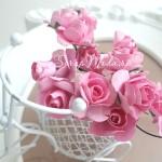 Розочка на проволоке, Ярко-розовые, 20 мм., 5 шт., UC002959