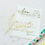 Надпись из акрила Love, золото, длинна 6,5 см, LM — DZA09, UC002968