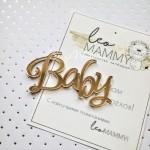 Надпись из акрила Baby, золото, размер 5,5 х 3,2 см, UC002971