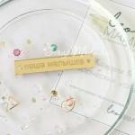 Бирочка из акрила Наша малышка, золото, размер 5 х 0,9 см, UC002980