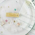 Бирочка из акрила Baby, золото, размер 3 х 0,9 см см, UC002981