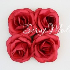 "Розы, тёмно-малиновые, 50 мм., цена за 4 шт.,  ScrapBerry""s, UC003001"