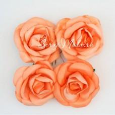 """Розы, персиковые, 50 мм., цена за 4 шт.,  ScrapBerry""""s, UC003002"""
