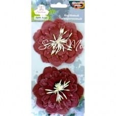 Цветы бордовые, 90 мм., цена за 2 шт.,  Рукоделие, UC003003