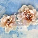Цветы Кремовые, бумажные, Odette Almond Collection,  Prima Marketing, UC003005