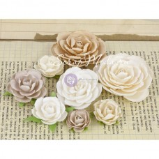 Цветы бумажные, Charlotte Collection, 8 шт, от 20 до 60 мм, Prima Marketing, UC003009