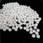 Бусины белые, перламутровые, 4 мм, цена за 12 гр., UC003037