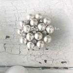 Брошь металлическая с креплением, размер диаметр 35 мм,  цена за 1 шт., UC003039