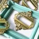Металлическая рамочка Прямоугольная, золото, размер 55х62 мм., цена за 1 шт.  UC003056