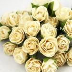 Розочка, цвет:кремовый, размер 25 мм., цена за 1 шт., UC003067