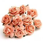 Розочка, цвет:сочный персик, размер:20 мм, цена за 5 шт., UC003069