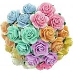 Розочки, цвет:Mix, размер 15 мм., цена за 10 шт., UC003070