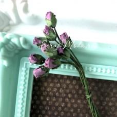 Бутон розочки, цвет:фиолетовый, 8 мм., 10 шт. UC003073
