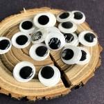 Глаза круглые пластиковые с бегающими зрачками, диаметр 15 мм, цена за 1 пару, UC003105