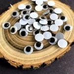 Глаза круглые пластиковые с бегающими зрачками, диаметр 9 мм, цена за 1 пару, UC003106