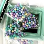 Бусины Mix пастельные цвета, 5 мм, цена за 15 гр., размер упаковки 50х50 мм, UC003114