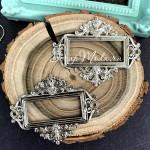 Металлическая рамочка Прямоугольная узкая, серебро, размер 55х45 мм., цена за 1 шт. UC003116
