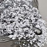 Mini Пайетки, цвет серебро, диаметр 3 мм., 10 гр.., Zlatka, UC003117