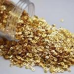 Mini Пайетки, цвет золото, диаметр 3 мм., 10 гр.., Zlatka, UC003118