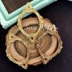 Металлическая рамочка Узкая Овальная, золото, размер 44х68 мм., цена за 1 шт.  UC003124