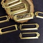 Металлическая рамочка Узкая, золото, размер 60х18 мм., цена за 1 шт. UC003125