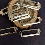 Металлическая рамочка Узкая, серебро, размер 60х18 мм., цена за 1 шт. UC003126