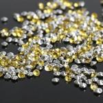 Кристаллы, цвет:лимонный, размер 3 мм., 5 гр., UC003128
