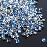 Кристаллы, цвет:голубой, размер 3 мм., 5 гр., UC003129