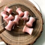 Кнопки пластиковые Розовые, размер 25х10мм., длина ножки 11 мм., 8 шт, UC003130