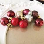 Набор mini пластиковых шариков, Красно-коричневый Микс. размер 28мм, 9 штук, UC003145