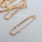 Булавка декоративная для творчества, золото, размер 5,3х1 см, цена за 1 шт.  UC003160