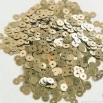 Mini Пайетки, цвет холодное золото, диаметр 3 мм., 10 гр.., Zlatka, UC003172