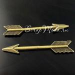 Подвеска Стрелочка 400, античная бронза, металл, 4х30мм., 1 шт.