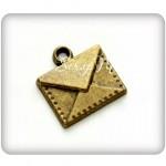 Подвеска Почтовый конверт 424, античная бронза, металл, 14х15 мм., 1 шт.