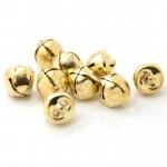 Подвеска Бубенчик, цвет: золото, металл, 10 мм., цена за 1 шт., UP000490
