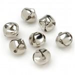 Подвеска Бубенчик, цвет: серебро, металл, 10 мм., цена за 1 шт., UP000491