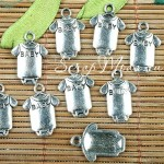 Подвеска  Baby бодик, серебро,17х12 мм., цена за 1 метр, UP000492